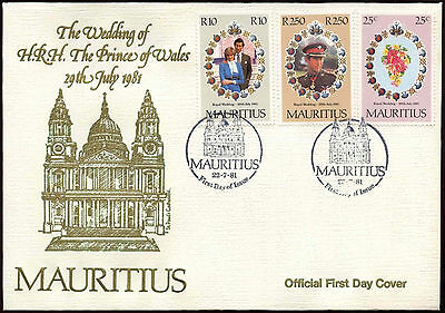 Mauritius 1981 Royal Wedding FDC First Day Cover #C15005