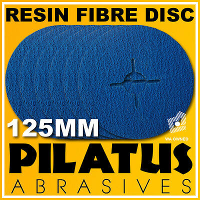 "25 x 125MM 5"" 36# RESIN FIBRE SANDING DISCS ZIRCONIA FOR METAL"