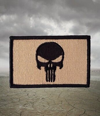 Punisher Flag Morale Patch Tan And Black Navy Seals Special Forces