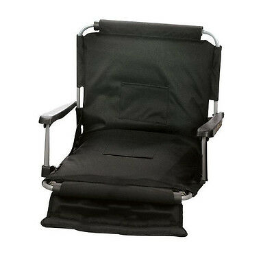 Picnic Plus Portable Wide Stadium Seat with Arms, Black PSM-107BL New