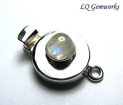 MOONSTONE 925 Sterling Silver 29mm Box Clasp /M6