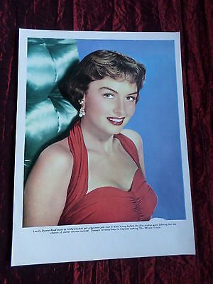"""Donna Reed - Film Star - """"1 Page Picture """" - Clipping/cutting"""