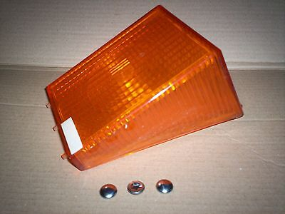 New Rubbolite 3299  Model 80 Amber Indicator Rear Lamp Lens with 3 Fastners