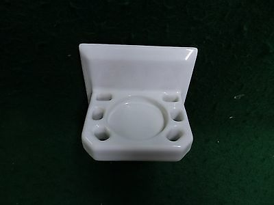 Vintage White Porcelain Tile In Toothbrush Cup Holder Old Bathroom 4254-15