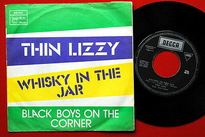 """Thin Lizzy Whisky In The Jar/black Boys Phil Lynott 1973 Unique Exyu 7""""Ps"""