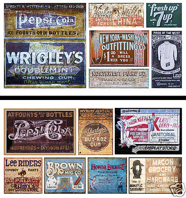 HO Scale Ghost Sign 2-Pack #23 - Great for Weathering Buildings & Structures!