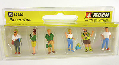 Closeout! Miniature Noch Summer Pedestrian Figures 15480, HO Scale 1:87