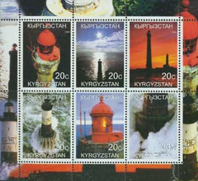 Lighthouses on Stamps  - 6 Stamp  Sheet -  - 3711