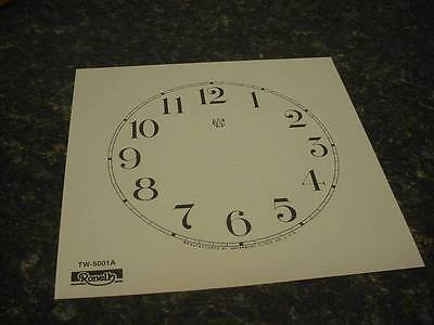 """5"""" Replacement Waterbury Clock Co. Arabic Off-White/Cream Numeral Dial   ZZ81"""