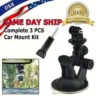 Car Window Windshield Glass Suction Cup Mount for GoPro Hero 4 3 2 1 Camera