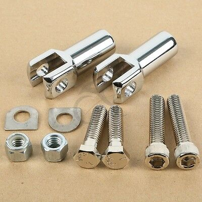 Chrome Rear Passenger Foot Peg Supports Mounts Clevis for Harley Softail 00-06