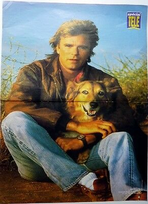RICHARD DEAN ANDERSON_TIFFANI-AMBER THIESSEN: 2 pages 1991 FRENCH POSTER