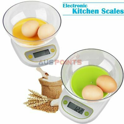 Electronic Digital kitchen Scale 5kg/1g Green Orange with Clear Bowl