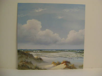 BEAUTIFUL DAY I  BY GEORGIA JANISSE OCEAN SCENE WITH BEAUTIFUL SKY AND WAVES