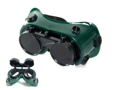 Plasma Cutting Goggles - Flip up lens 50mm diameter - Clear and shaded lenses