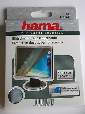 "Hama Screen Monitor Tv Dust Cover 19""-21"" 48-53Cm Translucent Protector 62644"