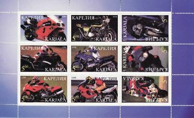 Racing Motorcycles on Stamps - 9 Stamp  Sheet  - 11F-039