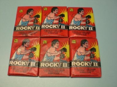 6 1979 Rocky Ii Unopened Movie Trading Card Packs