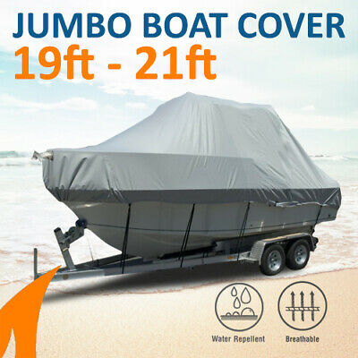 Heavy-Duty, Marine Grade 19ft-21ft / 5.8m-6.4m Trailerable Jumbo Boat Cover
