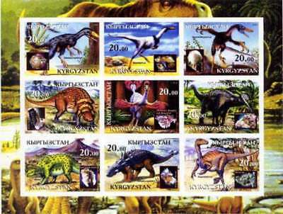 Dinosaurs On Stamps - 9 Stamp  Sheet - 5707