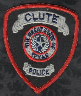 "Clute Texas Police Patch  2-7/8"" x 3-3/8"""