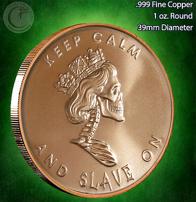"""""""Free Reign"""" Copper Round PROOF-LIKE 1 oz .999 Very Limited & Very Rare"""