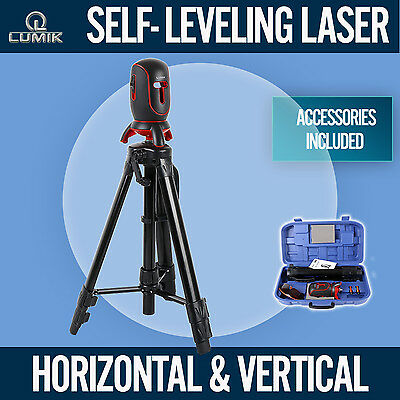 NEW Self Leveling Cross Line Laser Level  Horizontal Vertical Rotating Levelling