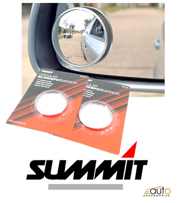 "2X Summit Blind Spot Mirror Round Adhesive 2"" Inch Easy Fit Wide View Angle Van"