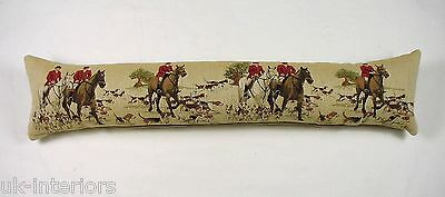 Hunting Horses Hounds Belgian Tapestry Draught Excluder Evans Lichfield T140