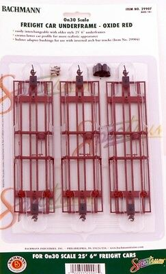 Bachmann On30 Scale Train Freight Car Underframe Oxide Red 29907