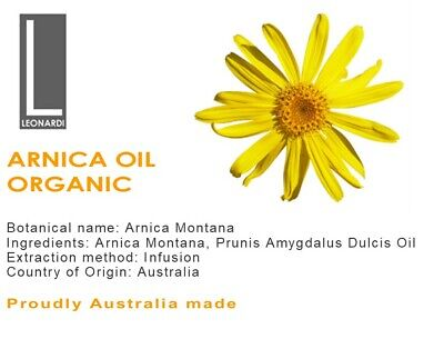 ARNICA OIL 100% PURE NATURAL OIL ORGANIC Therapeutic Grade 200ML