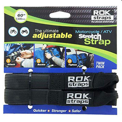 """Rok Straps Motorcycle ATV Quads Adjustable Luggage Bungee 18""""- 54"""" Twin Pack"""