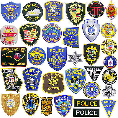 AMERICAN POLICE PATCH SHOP - 60+ Full Sized Iron-On US Cop Patches - NEW