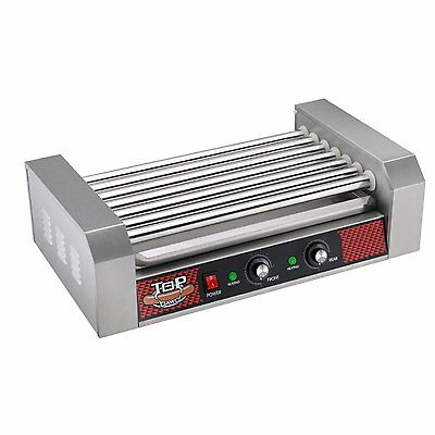 Professional Commercial 18 Hot Dog , 7 Roller Grilling Machine , Stainless steel