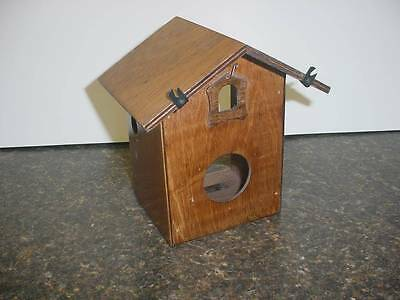 Old Cuckoo Clock Case for Repair / Fence Art Craft Birdhouse Project  E028