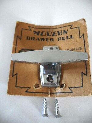 Vintage NOS Chrome  Cabinet Door / Drawer Pull T-Handle Teardrop TRAILER