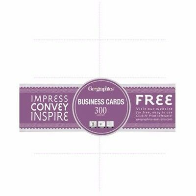 A4 Blank Business Cards White 180gsm Geographics 300/Pack 02915