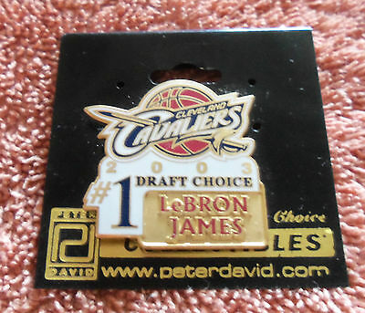 NBA : LeBron James Cleveland Cavaliers No.1 Draft Choice Pin - New