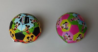Mickey + Minnie Mouse Pair Soft Soccer Toy Ball Kids Disney Character Clubhouse