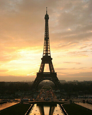 Paris France La Tour EIFFEL TOWER Glossy 8x10 Photo Print Wall Art Poster