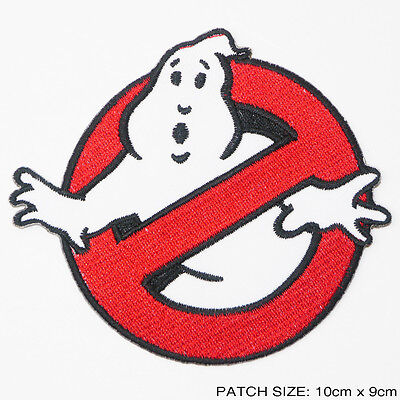 """GHOSTBUSTERS Movie Team Logo FULL SIZED 4"""" Embroidered Iron-On Patch - NEW"""