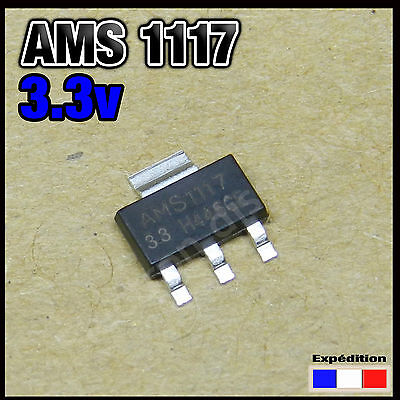 1117-3v3# régulateur de tension AMS1117 3,3v voltage regulator 3.3v 5 à 100pcs