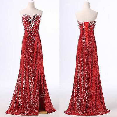 BEADED CORSET WOMENS LONG PROM DRESS FORMAL EVENING GOWNS PARTY DRESS PLUS SIZE