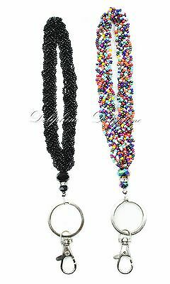 Beaded with Crystal Wristlet keychain