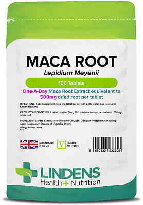 Maca Root (lepidium meyenii) 500mg - sexual health, libido (100 tablets) UK