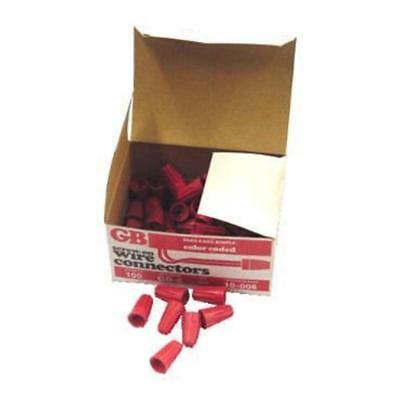 Gb Electrical 100-Gb-6/bra8654 #18 Red Screw-On Nut Wire Connectors