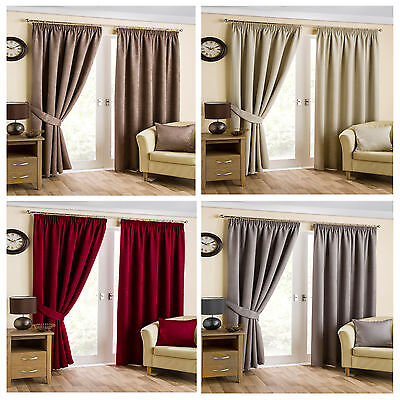 Belvedere Blackout/Thermal Pencil Pleat Curtains - FREE DELIVERY - TO CLEAR