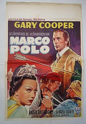 GARY COOPER/MARCO POLO/ /MA17F/ belgian poster