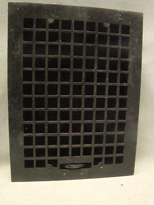 Vintage 1920S Cast Iron Heating Grate Square Design 15.75 X 12 B