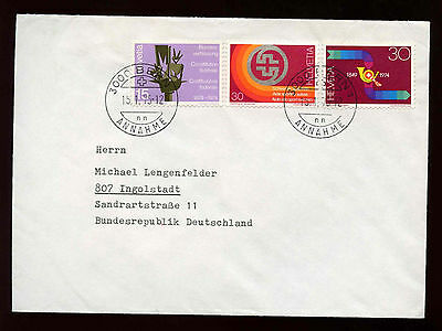 Switzerland 1975 Cover To Germany #C15419